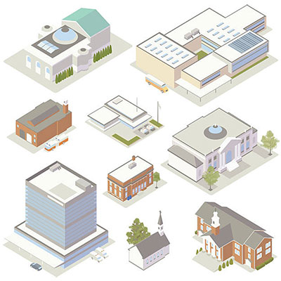 isometric-community-government-buildings