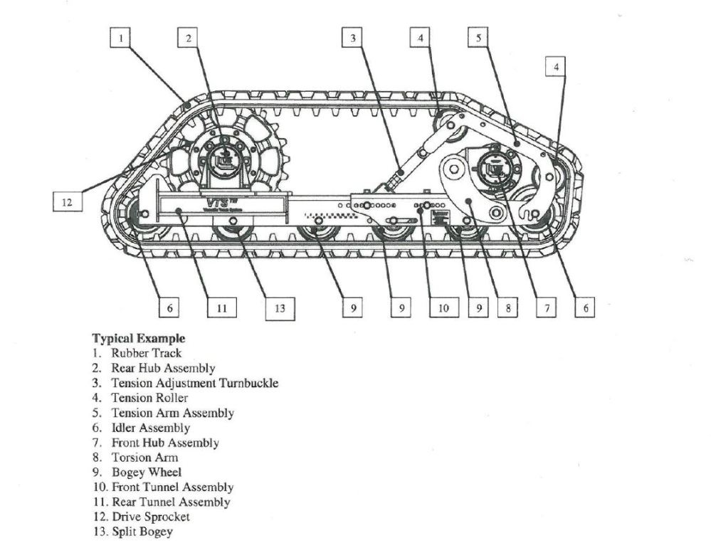 medium resolution of case 850g dozer idler wheel diagram