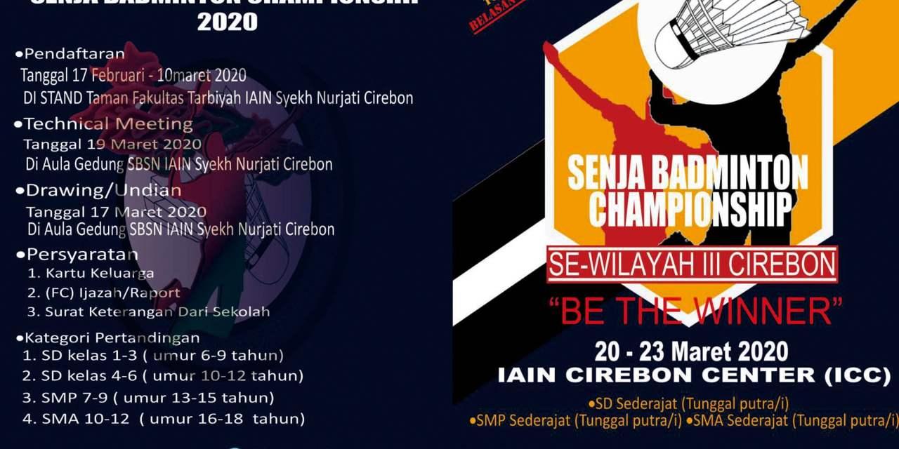 Ikuti Senja Badminton Championship 2020 (UKM SENJA)