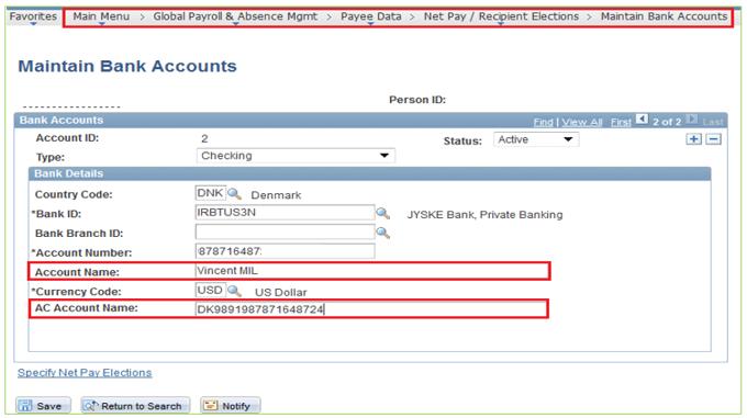 Unv Maintain Bank Accounts