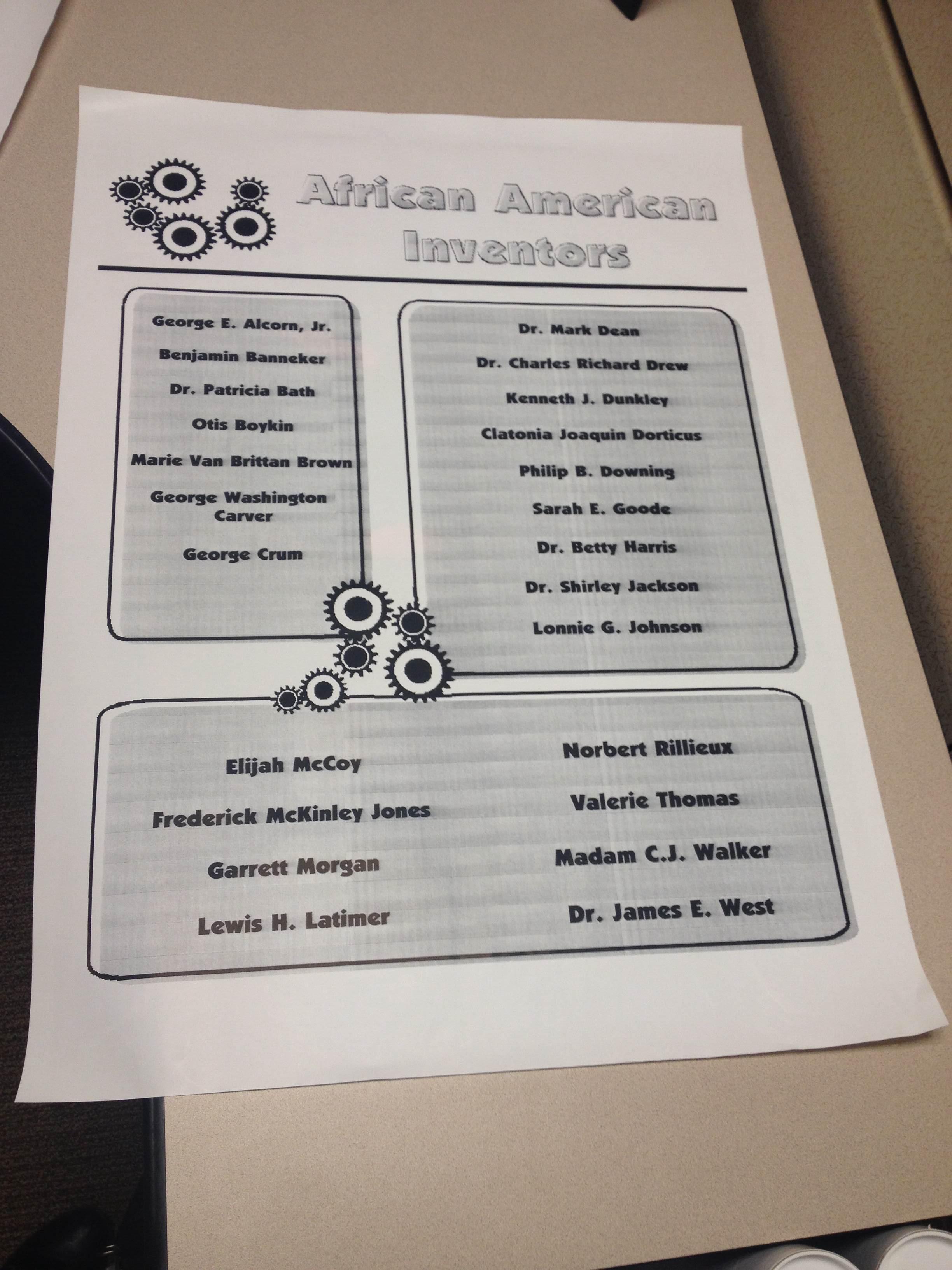 Grades K 5 Lesson Exploring African American Inventors