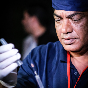 Dr. Amir Khalil leitet den VIER PFOTEN Rettungseinsatz in Gaza.