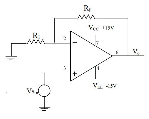 circuit diagram of non inverting amplifier dune buggy wiring virtual lab