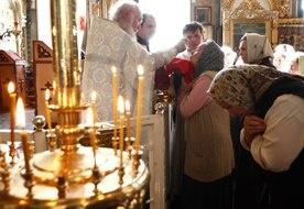 Prawosławne nabożeństwo w cerkwi w Kazaniu