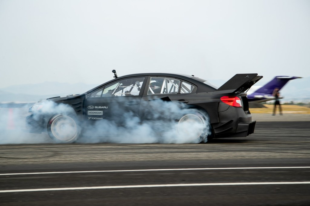 This is how wild the Subaru WRX STI is in action with 874 hp from the Gymkhana 11