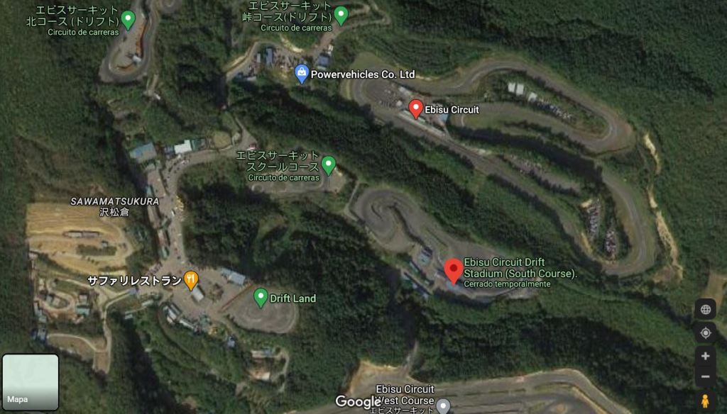 The Japanese Ebisu circuit badly damaged by the earthquake