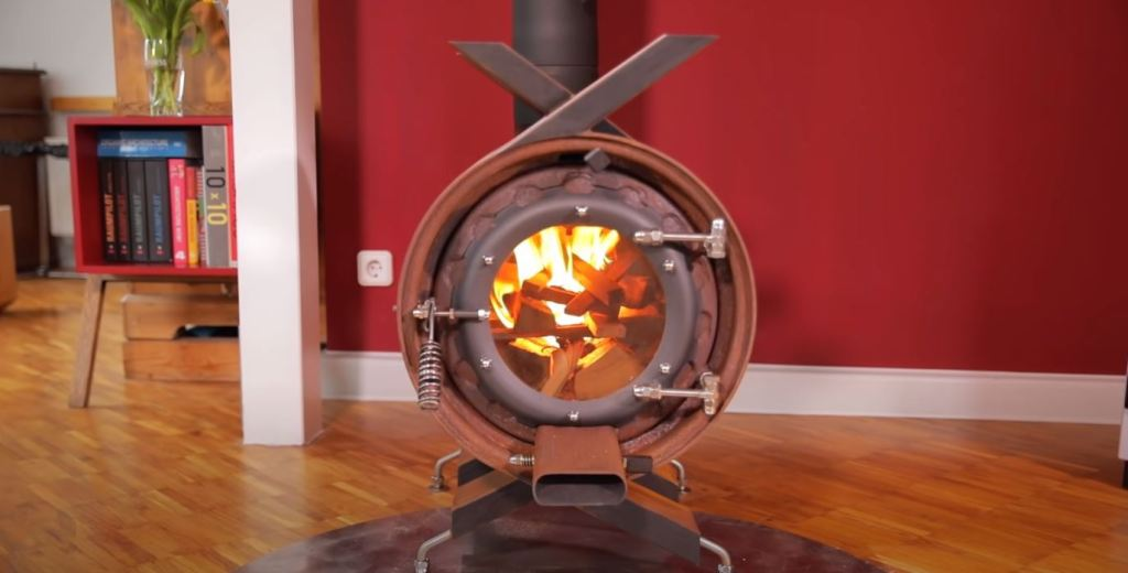 Cold? What do you think of this stove made with tires?