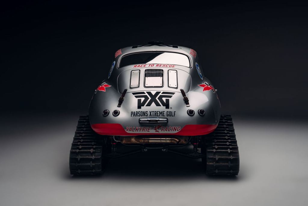 This Porsche 356A has been transformed with skis and tracks