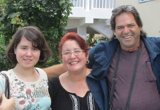 Maritza Moreno, Edwin Chungo Molina y su hija Nailin Marinela