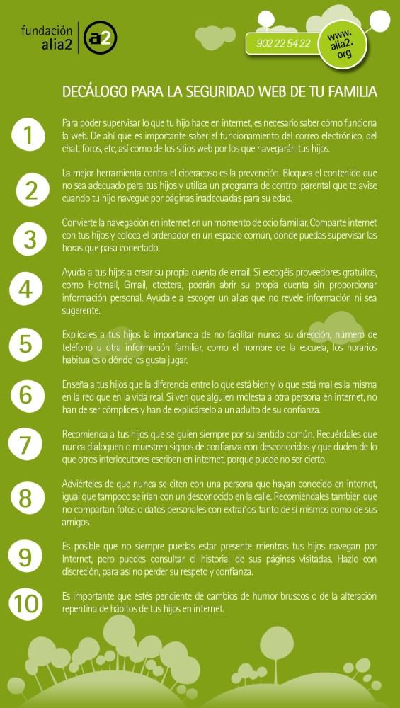 Código Ciberético para niños y Decálogo con consejos de seguridad web para los padres (2/3)