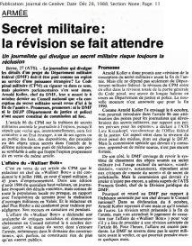 30.1 secret militaire la révision se fait attendre 1988