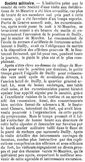 5 Visite des forts de Savatan-Dailly (1894)