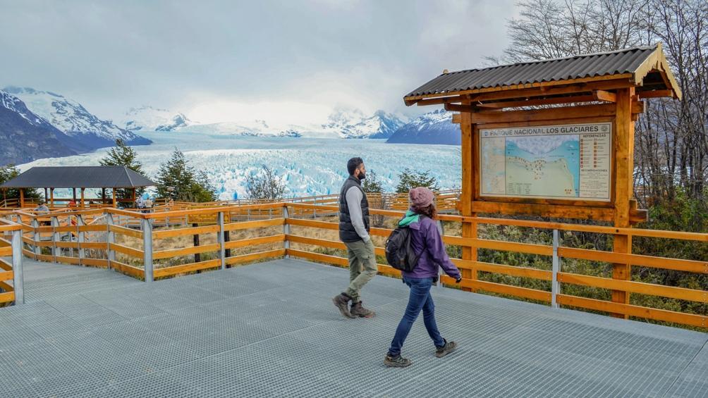 El Parque Nacional Los Glaciares, próximo a El Calafate, provincia de Santa Cruz.