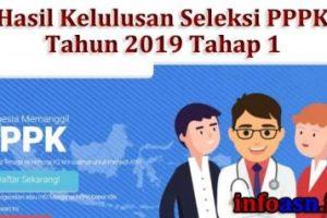 Pengumuman Hasil Kelulusan Seleksi PPPK  Kabupaten Pasuruan Tahun 2019 Tahap 1, Cek Linknya
