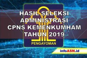 Hasil Seleksi Administrasi CPNS Kemenkum HAM