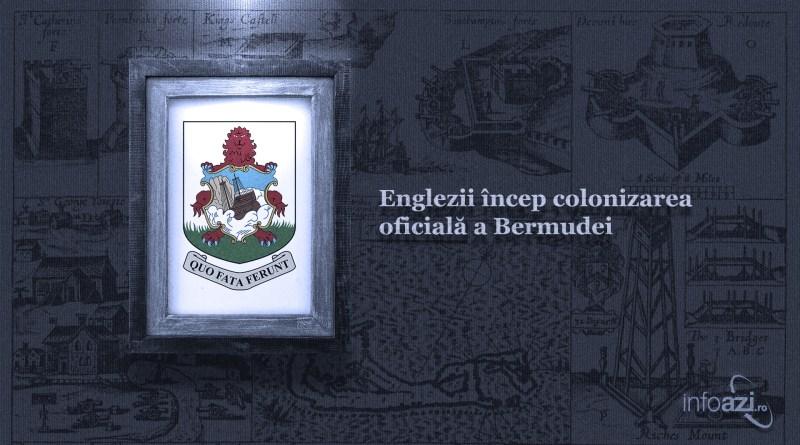 Englezii încep colonizarea oficială a Bermudei