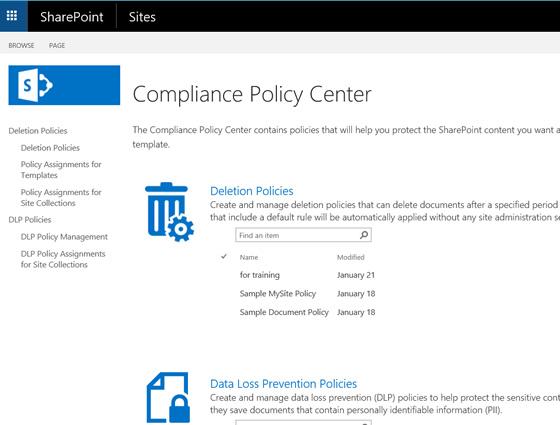 Sharepoint Compliance