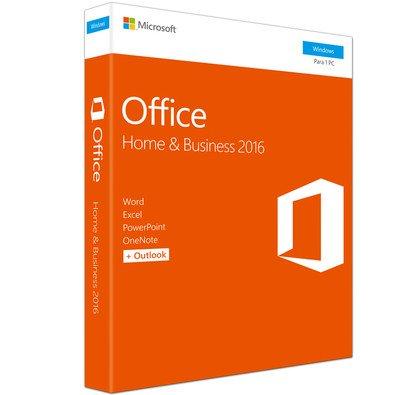 Exemplo de uma licença FPP do Office Home and Business 2016