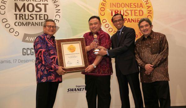 Pelindo III Dinobatkan Sebagai Perusahaan Terpercaya di Indonesia