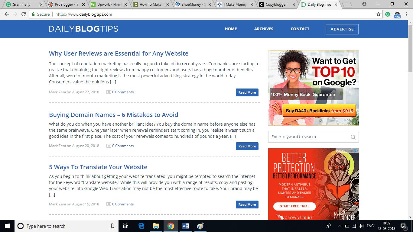 Top 10 Blogs about Making Money Online | InfoBeat.com