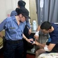 Asalto en Chaco y French: Policía terminó herido por el delincuente