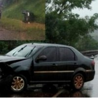 Un auto volcó sobre la ruta 14 en Villa Martos y otro colisionó en la 103 contra el guardrail