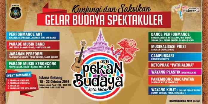 Pekan Budaya Kota Blitar 2016
