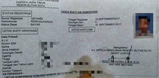 surat keterangan pengganti SIM