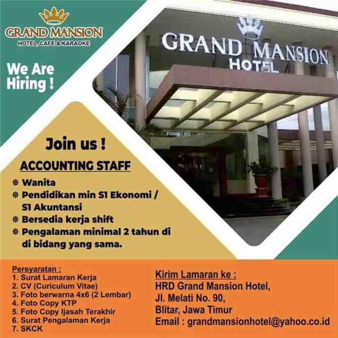 Lowongan kerja di Grand Mansion Hotel