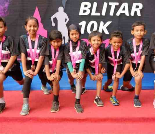 Anak-anak Ikut Berlari di Blitar 10K. Dok. Istimewa InfoBlitar