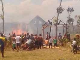 Kebakaran rumah di Dusun Bogoran Desa Pandanarum