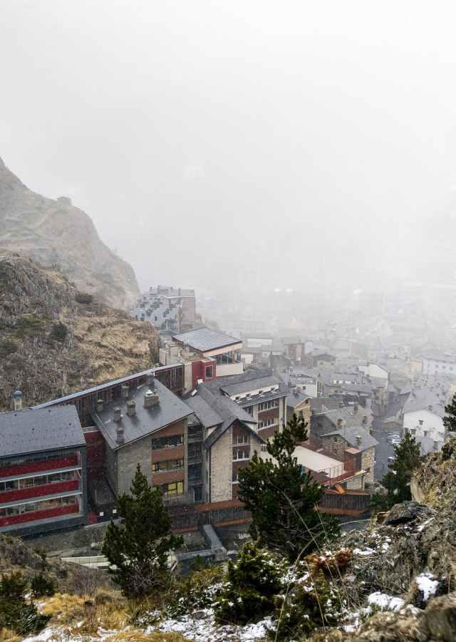 snow city landscape water Andorra Argentina