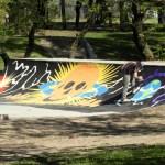 Punta Alta: La pista de Skate del Parque Sarmiento toma color con arte urbano