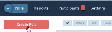 """Create Poll"" button"