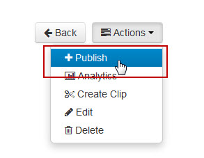 "Next, click on ""Actions"" > ""Publish"""