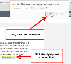 An example of how to delete a Highlight Annotation.