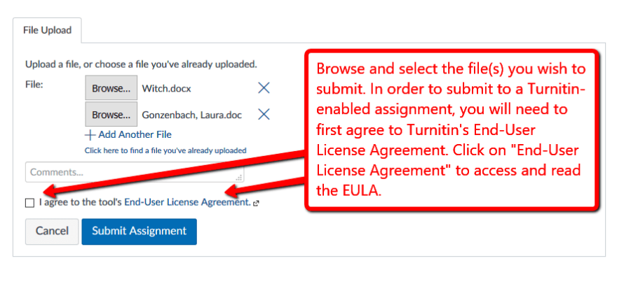 An example of the EULA check-box that includes this message: