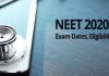 NTA NEET (UG) 2020 examination date extended due to Coronavirus Lockdown