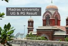 Madras University UNOM UG/PG 1st, 3rd & 5th Semester Nov-Dec Exam Result 2021 at www.unom.ac.in