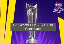 T20 World Cup 2021 LIVE Scorecard, Today Match Live Score Board