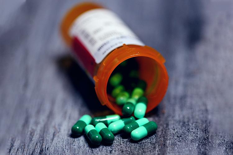 bottle of prescription pills