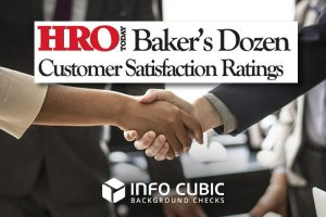 HRO Today Baker's Dozen Customer Satisfaction Ratings