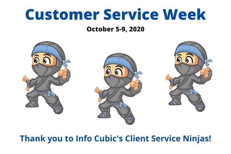 Info Cubic Celebrates Customer Service Week