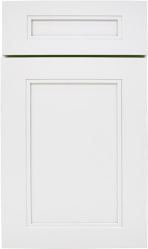 Glacier White Transitional Kitchen Cabinet