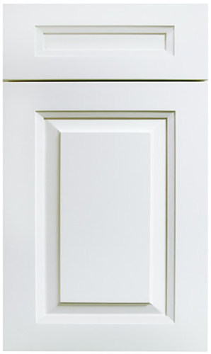 Avalon White Raised Panel Kitchen Cabinet