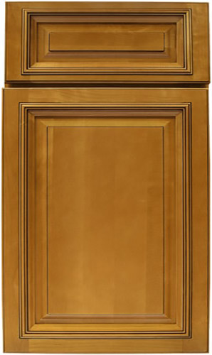 Crystal Maple Brown Raised Panel Kitchen Cabinet