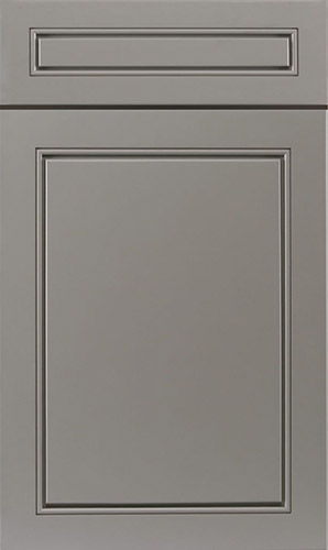 Greige Grey Transitional Kitchen Cabinet