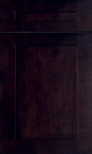 Lakeland Cherry Gunsmoke Shaker Kitchen Cabinets