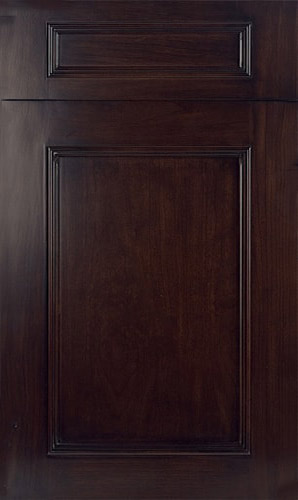 Ridgewood Cherry Black Walnut Transitional Kitchen Cabinet