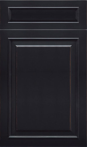 Wellington Antique Black Raised Panel Kitchen Cabinet